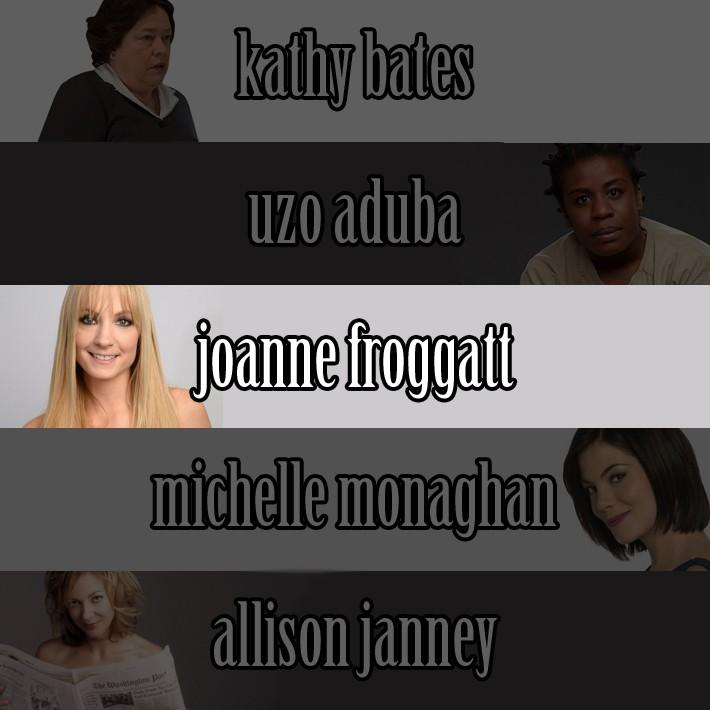 Najboljša podporna igralka je postala Joann Froggatt iz Downton Abbey.