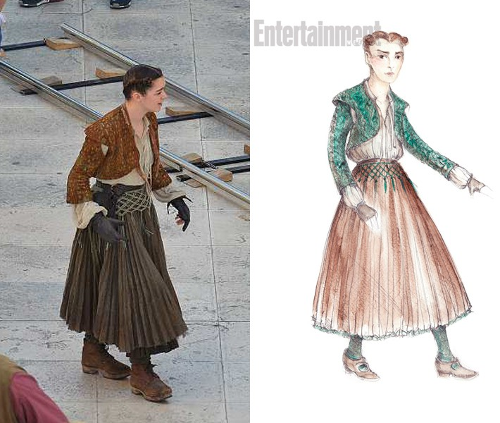 Arya bo v Braavosu nosila povsem drugačna oblačila.