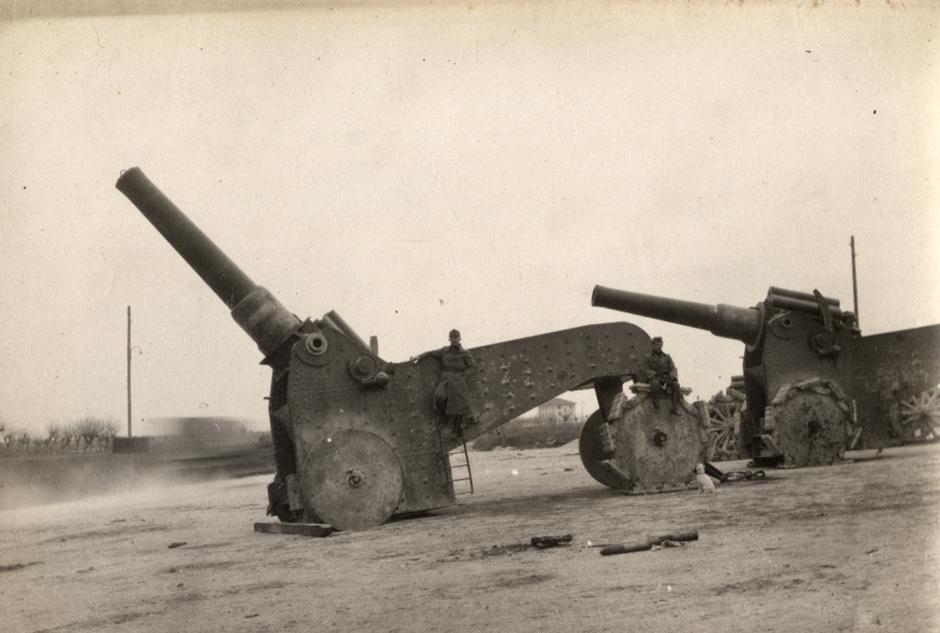Italijansko težko topništvo na italijanski fronti, 1918.