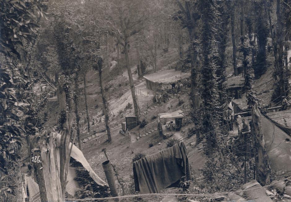 Nemški tabor v zaledju zahodne fronte, 1916.