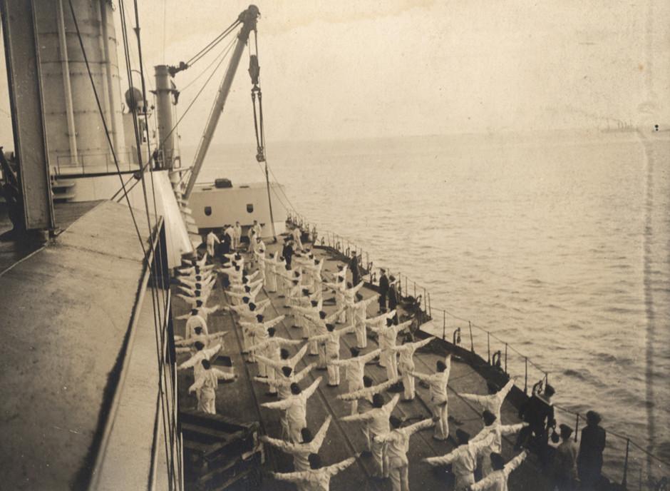 Jutranje vaje nemških mornarjev, 1917.