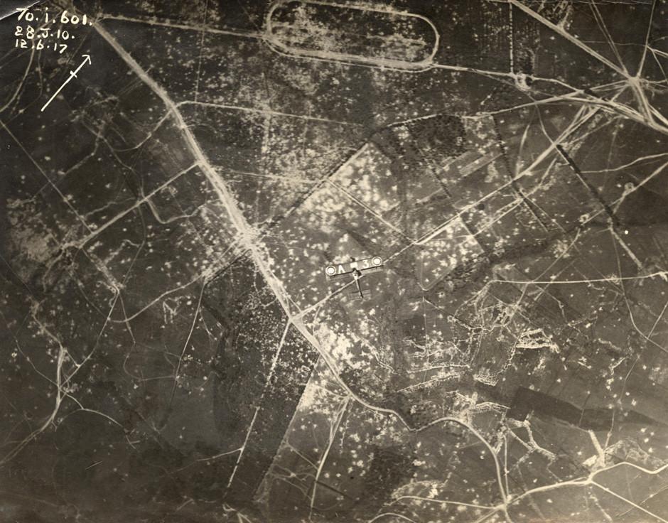 Zavezniško letalo nad zahodno fronto.
