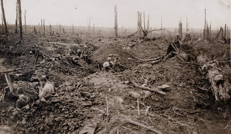 Britanski vojaki na Somi, 1916.